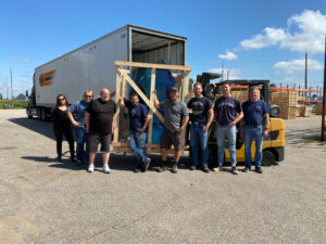 The first Cuda Parts Washer shipped from Cuda Cleaning Systems